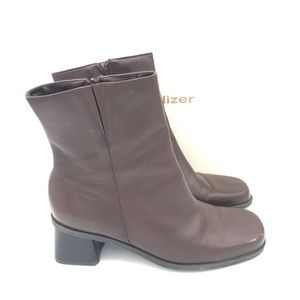 Naturalizer Women's Brown Boots Leather ankle 8